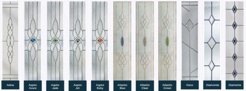 Composite door glass designs 1