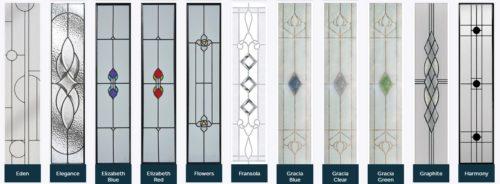 Composite door glass designs 2