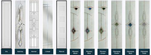 Composite door glass designs 3