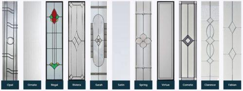 Composite door glass designs 4
