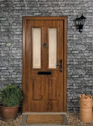 Composite front door in situ