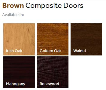 Composite front doors finishes - browns