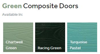 Composite front doors finishes - greens