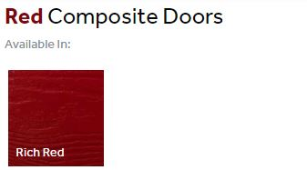 Composite front doors finishes - reds