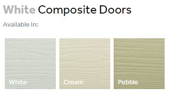 Composite front doors finishes - whites
