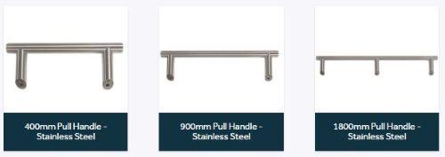 Composite front doors bar handles