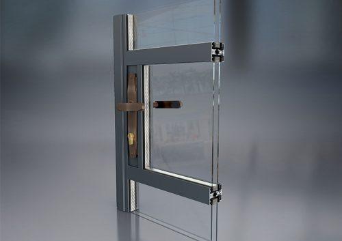 Slimline door cross setion