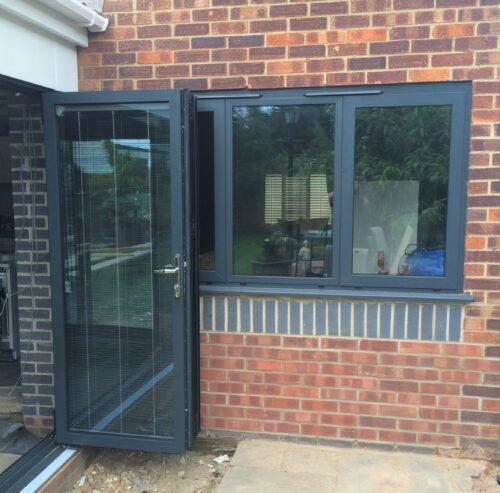 3 panel bifold with window