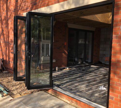 5 panel Lincoln sliding folding doors