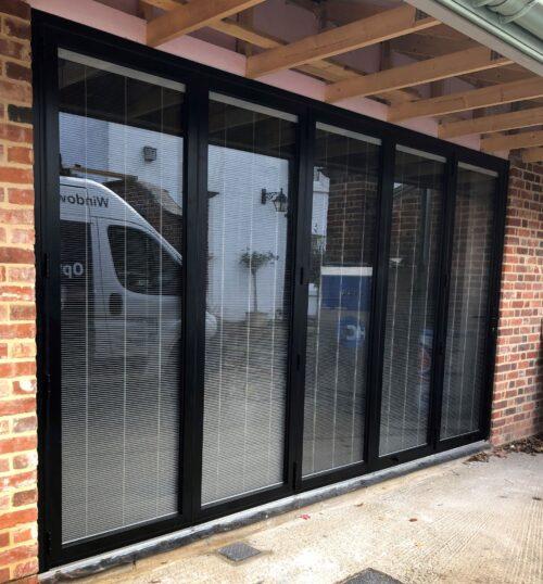 Options Glazing Lincoln bifolding doors in black