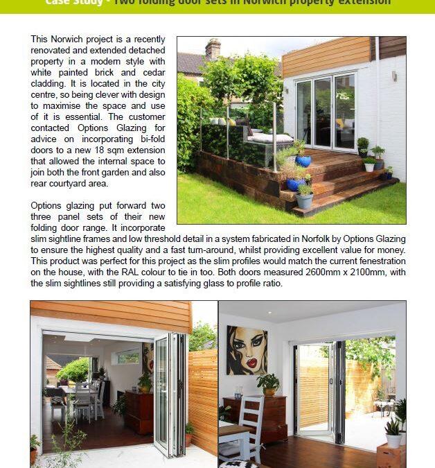 Case Study – Folding doors in Norwich home
